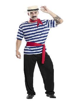 disfraz de gondolero veneciano para hombre