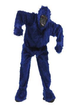 disfraz de gorila azulon deluxe hombre