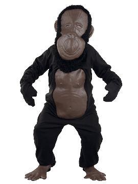 disfraz de gorila cabezon hombre adulto. Es ideal para emular a este salvaje animal o un dulce mono de la jungla en eventos, representaciones y carnaval. Este disfraz es ideal para tus fiestas temáticas de disfraces de animales para hombre adultos.