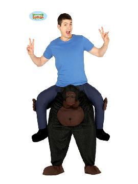 disfraz de gorila porteador a hombros hombre