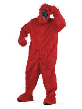 disfraz de gorila rojo deluxe hombre
