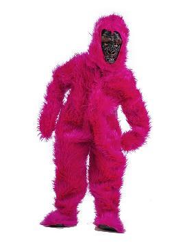 disfraz de gorila rosa deluxe niño