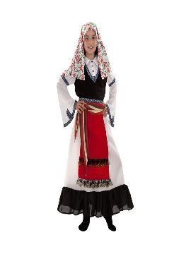 disfraz de griega regional para niña