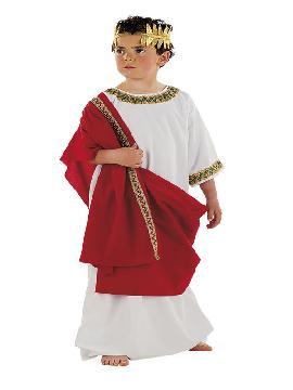 disfraz de griego para niño. Te convertirá en el regente del imperio romano que terminó la gran obra del coliseo. Podrás dirigír tus tropas imperiales y tu guardia pretroriana en Carnavales. Este disfraz es ideal para tus fiestas temáticas de disfraces romanos y egipcios infantiles en familia