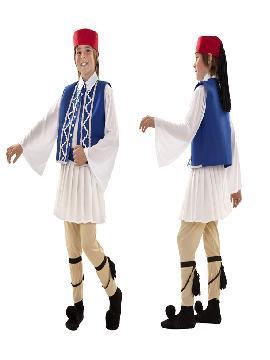 disfraz de griego regional niño infantil. Levántate y baila sin parar el Sirtaki tan típico de Grecia en Carnaval y fiesta tematicas. Este disfraz es ideal para tus fiestas temáticas de disfraces de uniformes de trabajo y deporte.