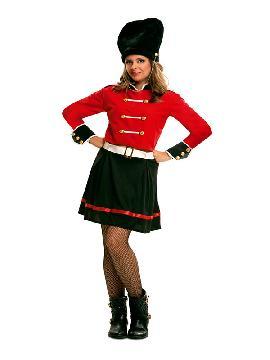 disfraz de guardia real inglesa para mujer
