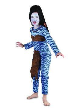 disfraz de guerrera avatar para niña