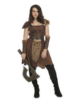 disfraz de guerrera del norte mujer