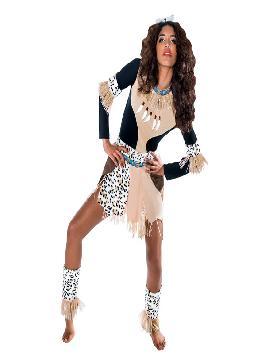 disfraz de guerrera zulu para mujer varias tallas. Vete preparando ese ritmo massai con el que lucirás a la perfección.Únete al resto de la tribu para disfrutar del Carnaval.Este disfraz es ideal para tus fiestas temáticas de disfraces del mundo,paises y regionales mujer adultos.