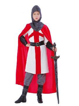 disfraz de guerrero cruzado para niño. Te convertirás en un valeroso caballero medieval de antaño dispuesto a ganar mil batallas. Es perfecto para Desfiles, Ferias y Mercados Medievales. Este traje es ideal para tus fiestas temáticas de disfraces de medieval para infantiles.