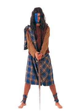 disfraz de guerrero escoces hombre