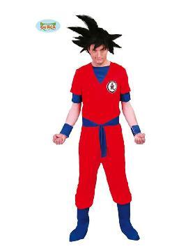 disfraz de guerrero goku hombre. Conviértete en Goku, el guerrero Saiyan, y protege a la tierra de los malvados célula, Freezer o Bu (al estilo bola de dragon Z) con este disfraz de guerrero Saiyajin para hombre. Este increíble disfraz de Goku, personaje de Dragon Ball Z. Este disfraz es ideal para tus fiestas temáticas de disfraces cuentos populares,famosos y músicos para adultos.