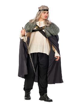 disfraz de guerrero medieval siete reinos gris