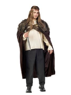 disfraz de guerrero medival siete reinos marron