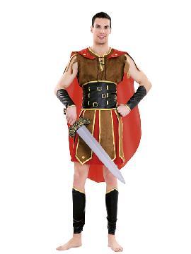 Disfraz de guerrero tribuno adulto. También sirve como disfraz de Herodes para Navidad. Éste disfraz de Carnaval es ideal para divertirse en las Fiestas de Carnavales tan divertidas y estrambóticas como siempre y que cada vez se celebran en más Pueblos.Este disfraz es ideal para tus fiestas temáticas de disfraces romanos y egipcios para hombre adultos.