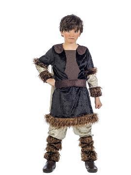 disfraz de guerrero vikingo deluxe niño. Imita a la perfección el uniforme bárbaro de la guerrero nórdico. Es un traje perfecto para acudir a Fiestas de Disfraces.Este disfraz es ideal para parejas o tus fiestas temáticas de disfraces de guerreros y arabes infnatil para formar grupos y familas originales.