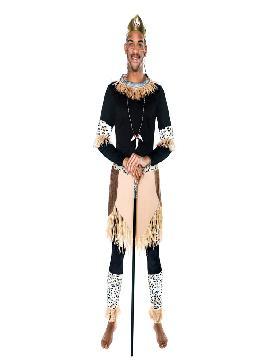 disfraz de guerrero zulu hombre egl65068