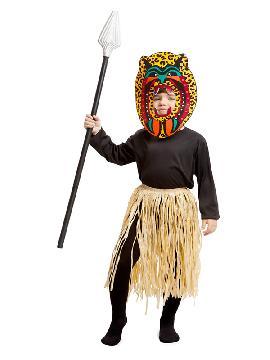 disfraz de guerrero zulu para niño