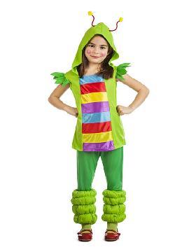 disfraz de gusanita multicolor niña
