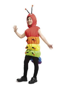 disfraz de gusano para niño