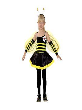 disfraz de hada avispa niña infantil.Podrás convertir a los pequeños de la casa en simpáticos insectos voladores. Déjalos que se vayan volando a las fiestas escolares. Este disfraz es ideal para tus fiestas temáticas de disfraces duendes,hadas,ninfas y insectos.