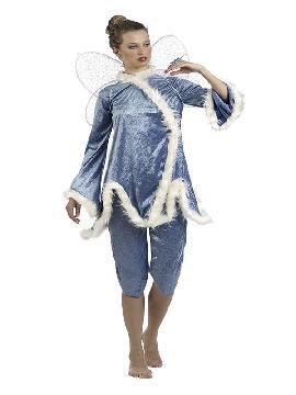 disfraz de hada del hielo mujer