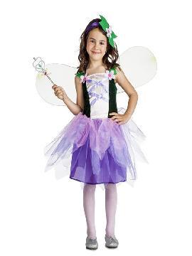 disfraz de hada flores niña