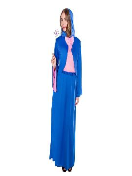 disfraz de hada madrina azul mujer