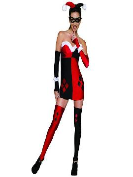 disfraz de harley quinn dc comics sexy para mujer