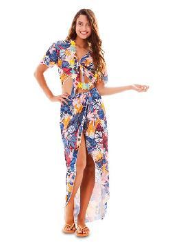 disfraz de hawaiana azul para mujer