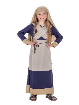 disfraz de hebrea azul para niña