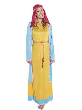 disfraz de hebrea naranja mujer adulto