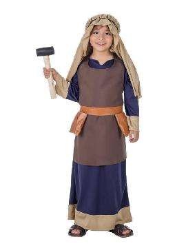 disfraz de hebreo azul para niño
