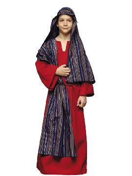 Disfraz de hebreo rojo infantil. De estética Beduína, te permitirá sentirte como un Jeque Árabe en Fiestas Temáticas y Carnaval, un Pastor en Navidad.Este disfraz es ideal para tus fiestas temáticas de disfraces de navidad y cabalgatas infantiles