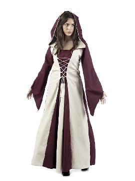 disfraz de hechicera medieval ella mujer
