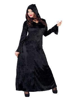disfraz de hechicera negra mujer