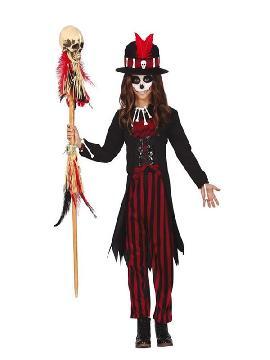 disfraz de hechicera vudu para niña