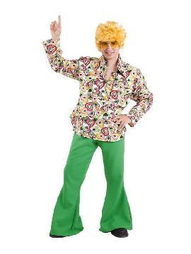 disfraz de hippie años 70 hombre
