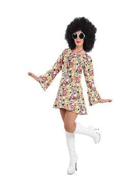 disfraz de hippie años 70 mujer
