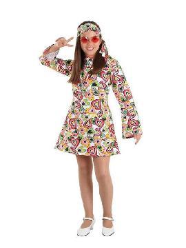disfraz de hippie años 70 niña