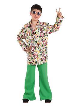 disfraz de hippie años 70 niño