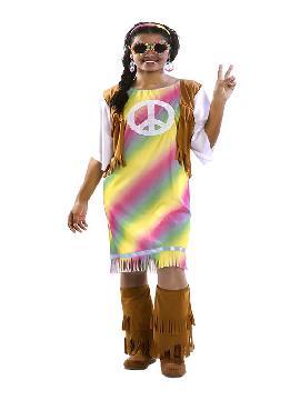 disfraz de hippie arcoiris para mujer