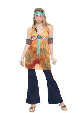 disfraz de hippie california mujer