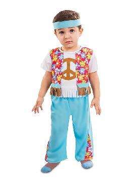 disfraz de hippie chaleco para bebe