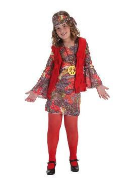 disfraz de hippie chaleco para niña