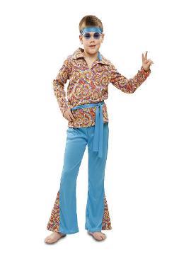 disfraz de hippie colorido niño