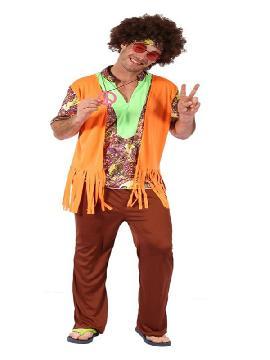 disfraz de hippie colorido para hombre