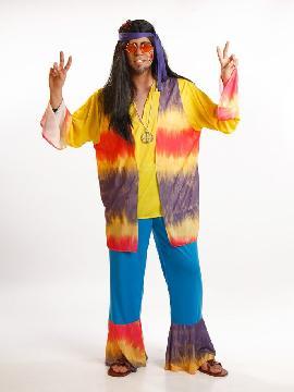 disfraz de hippie colorido para hombre adulto