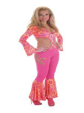 disfraz de hippie flower power sexy mujer