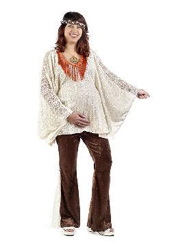 disfraz de hippie premama para mujer